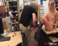 Small Tits Blonde Bimbo Sells Her Car And Fucked On A Table - scene 7