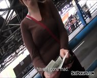 Busty Redhead Czech Slut Nailed While Waiting A Bus - scene 1