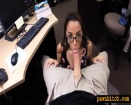 Coed In Glasses Sells Her Boobs And Fucked By Pawnkeeper - scene 5