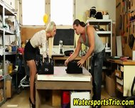 Clothed Ho Gets Pissed On - scene 2