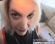 Cock Swallowing Wife Eats Sperm - scene 2