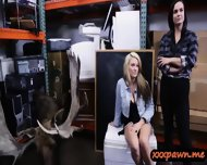 Horny Lesbian Couple Share A Dick In A Pawnshop To Earn Cash - scene 4