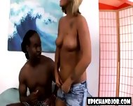 Blonde Handworking Black Dong - scene 1