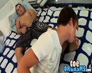 Licking And Sucking His Big Smooth Feet And Tasty Toes - scene 9