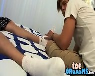 Licking And Sucking His Big Smooth Feet And Tasty Toes - scene 4