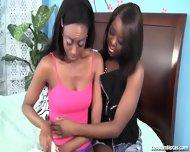 Gorgeous Black Lesbians Tongue Fuck Each Other - scene 3