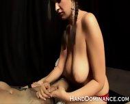 Large Breasted Femdom Wanking Bound Guy Prick - scene 1