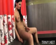 Skinny Tranny Plays With Cock - scene 5