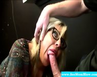 Mature Blowjob Blonde With Glasses Sucks - scene 1