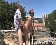 Outdoor Fucking Of Sexy Cutie - scene 12