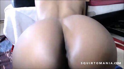 Perfect BLACK Ass Bubble Butt and Pussy Squirting Orgasm