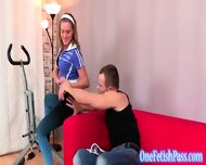 Boyfriend Gets A Bit Harsh With Blonde Gf - scene 2