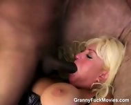 Blonde Big Tit 50plus Takes Dark Prick - scene 2