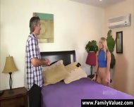 Blonde Daughter Sucks Older Guy S Cock In Family Sex - scene 5