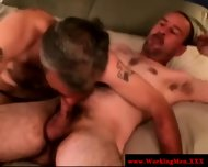 Mature Straight Bear Amateurs Sucking - scene 4