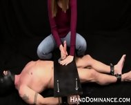 Mean Amateur Femdom Milks Submissive Guy - scene 11