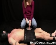 Mean Amateur Femdom Milks Submissive Guy - scene 6