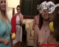 Hazed Coed Teens Playing Games - scene 7