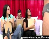 Amateur Girls Watch Cfnm Guys Jerk Off - scene 10