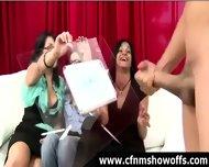 Amateur Girls Watch Cfnm Guys Jerk Off - scene 3