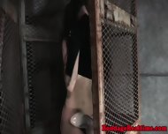 Caged Sub Gets Shackled And Toyed - scene 4