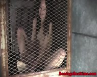 Caged Sub Gets Shackled And Toyed - scene 6