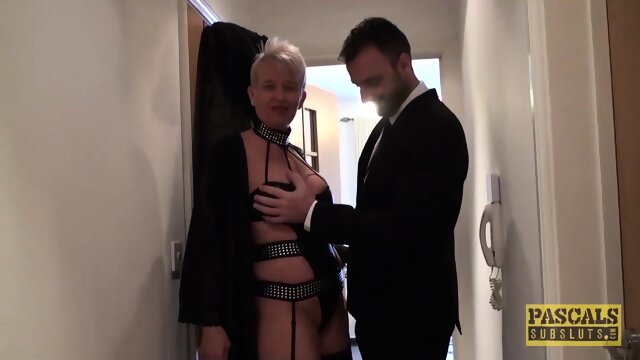 PASCALSSUBSLUTS – Scarla Swallows Cucks Husband With Master
