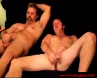 Straight Redneck Bears Together Wanking - scene 11