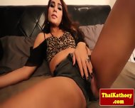 Thai Young Amateur Tgirl Masturbates - scene 1