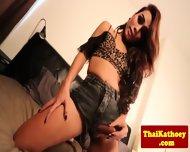 Thai Young Amateur Tgirl Masturbates