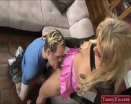 Busty Blonde Tranny Aubrey Kate Sucked By And Anal Fucks Dude - scene 7