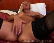 Horny Mature Fitness Model In Stockings Pleases Her Coochie In Solo - scene 9
