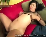 Brotha Smashes A Tight Oriental Cunt With His Giant Black Bone - scene 1