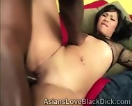 Brotha Smashes A Tight Oriental Cunt With His Giant Black Bone - scene 3