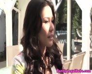 Mena Li Drinking Interracial Juice - scene 1