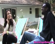 Mena Li Drinking Interracial Juice - scene 4