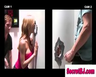 Straight Guy Gets Blowjob From Gay Dude At Gloyhole For Voyeur Babe - scene 5
