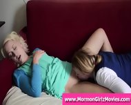 Redhead Mormon Lesbian Licking Her Girlfriend S Pussy - scene 1