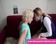 Redhead Mormon Lesbian Licking Her Girlfriend S Pussy - scene 2