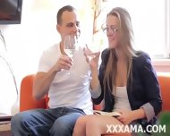 Shy Young Pretty Blonde With Glasses - scene 3
