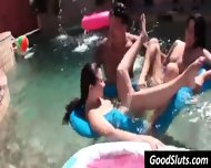 Petite College Girl Topless At Pool - scene 10