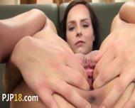 Pleasing Redhead Dildoing Her Pussy - scene 12
