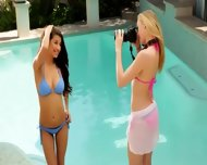 Two Super Sexy Lesbians In The Swimmingpool - scene 1