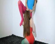 Hairy Lesbians In Nylon Pants Erotica - scene 7