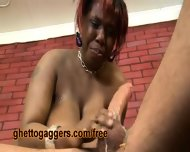 Chubby Black Slut Deepthroats A White Clown - scene 10