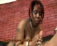 Chubby Black Slut Deepthroats A White Clown - scene 11
