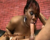 Chubby Black Slut Deepthroats A White Clown - scene 12