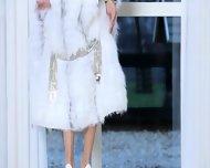 Killer Brunette Woman In White Heels - scene 3