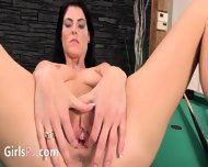 Beautiful Vagina Masturbation On The Billiards - scene 10