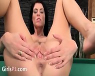 Beautiful Vagina Masturbation On The Billiards - scene 7
